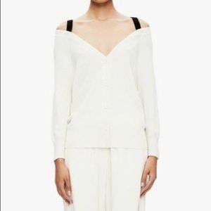 Theory Sweaters - Theory Saline B Cashmere Cold Shoulder Cardigan